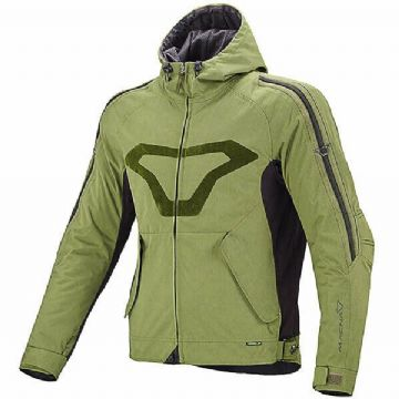 Macna Eighty One Textile Motorcycle Motorbike CE Armoured Jacket Green RRP £219